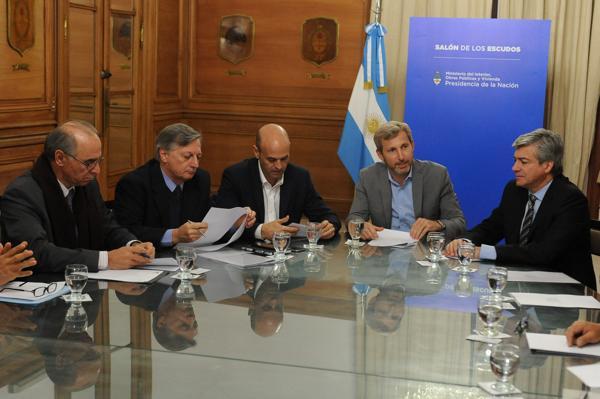 Juan José Aranguren, Guillermo Dietrich y Rogelio Frigerio