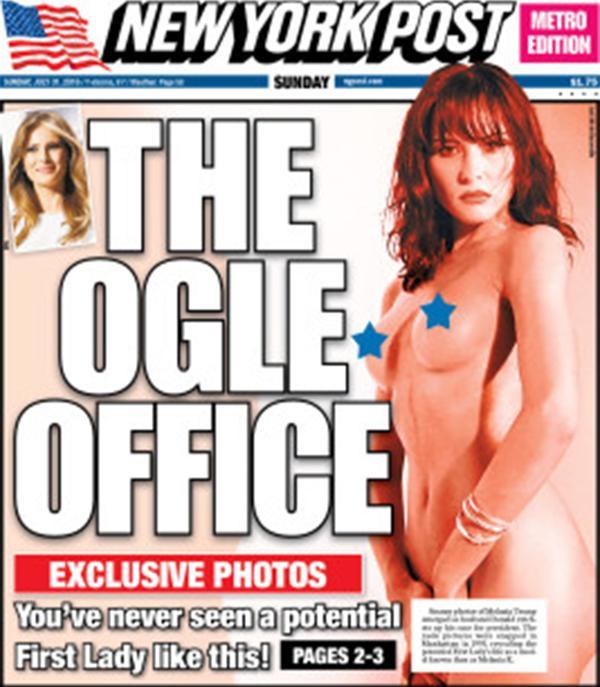 La portada de The New York Post del último domingo, que provocó que Donald Trump saliera a hablar sobre el pasado de su esposa