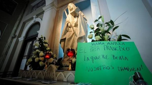 La tumba de María Antonia de Paz y Figueroa en la basílica Nuestra Señora de la Piedad (Bartolomé Mirte y Paraná), en Buenos Aires