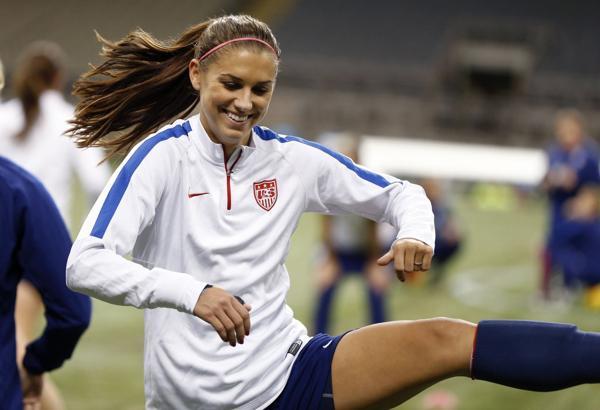 Alexandra Patricia Morgan, más conocida como Alex Morgan, es delantera de la selección de fútbol de Estados Unidos