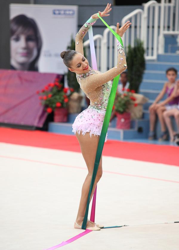 Evgenia Kanaeva, representante de Rusia en gimnasia rítmica
