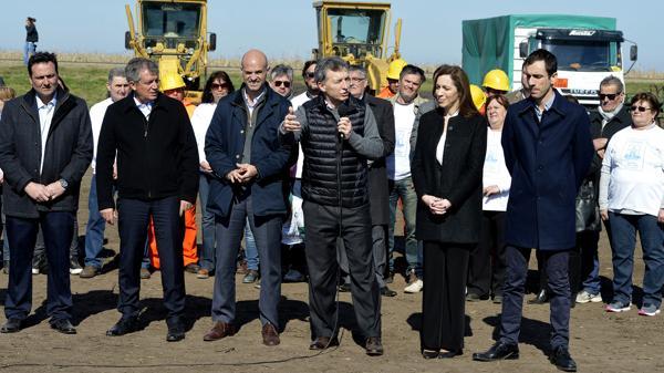Estuvo acompañado por Vidal y Dietrich, entre otros (Presidencia de la Nación)