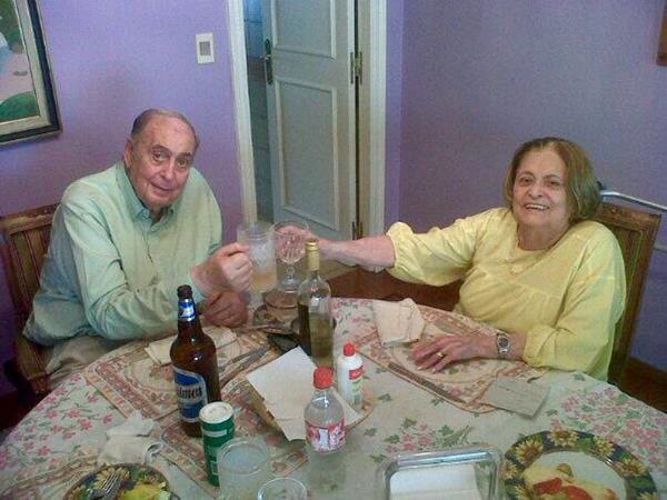Juan Carlos Mesa y su mujer, Edith