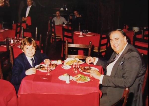 Juan Carlos Mesa con su sobrino Ezequiel