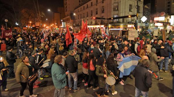 La protesta en Quilmes