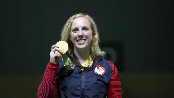 Virginia Thrasher ganó la primera medalla de oro de los Juegos Olímpicos (Reuters)