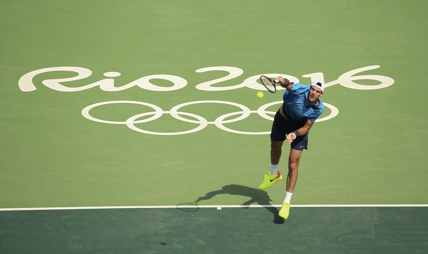 Juan Martín Del Potro empezó su camino en el dobles con un triunfo (Reuters)