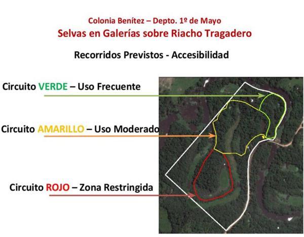 Las tres áreas en que se divide la reserva