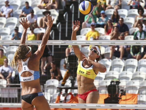 Las argentinas Gallay y Klug cayeron ante España en Vóley de playa (Reuters)