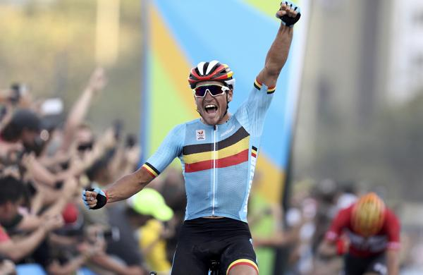 El ciclista belga Greg Van Avermaet ganó el oro en ciclismo de ruta (Reuters)