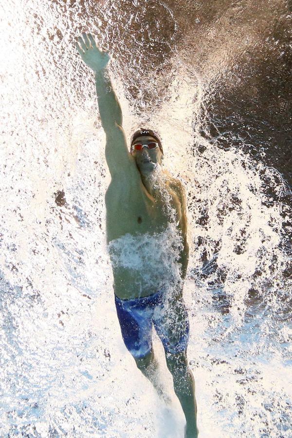 Su físico privilegiado a la hora de nadar le ha permitido lograr récords mundiales y olímpicos que para muchos serán difíciles de superar(Reuters)