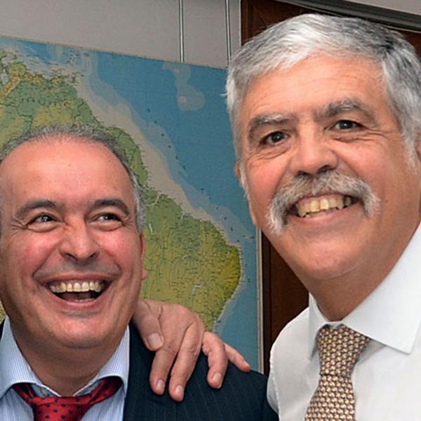 José López junto a Julio de Vido
