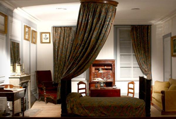Dormitorio de San Martín, reconstruido en el Museo Histórico Nacional