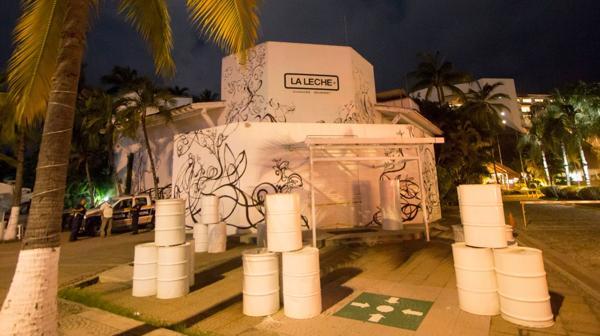 El frente del restaurante donde se produjo el secuestro (AFP)
