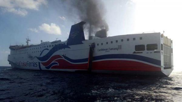 El ferry pertenece a la empresa Caribbean Fantasy