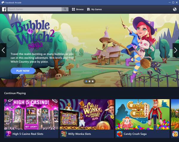 Así lucía Facebook Games Arcade cuando fue lanzado el pasado mayo (Facebook)
