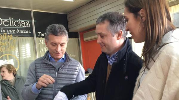 Macri junto a Fernando de Andreis y María Eugenia Vidal