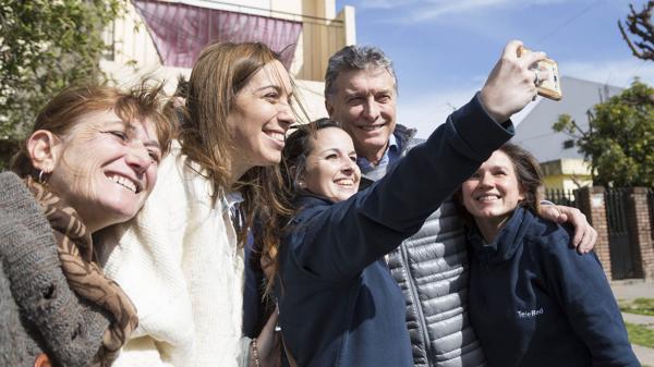 Maria Eugenia Vidal y Mauricio Macri. (Prensa Cambiemos)