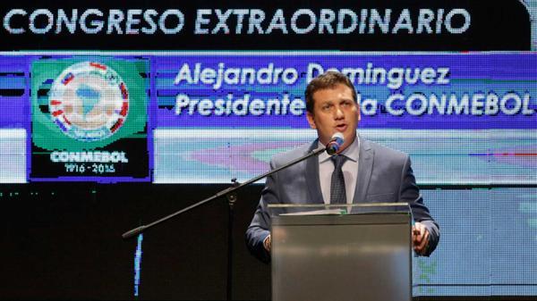 Alejandro Domínguez, presidente de la Conmebol (AP)