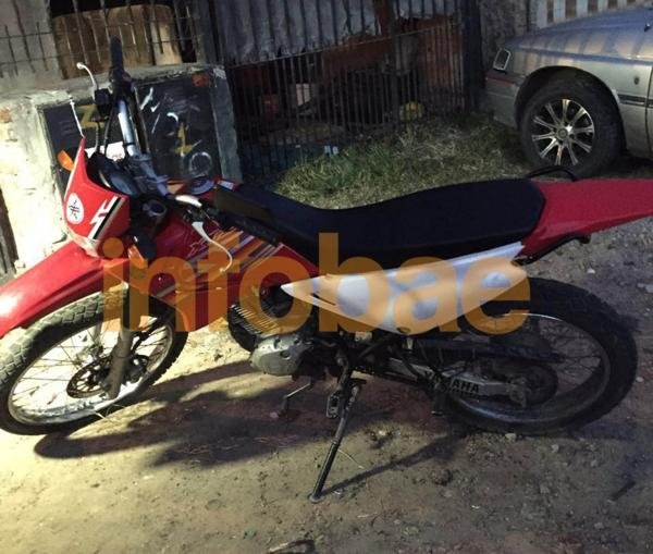 Una de las motocicletas incautadas esta mañana en Monte Chingolo