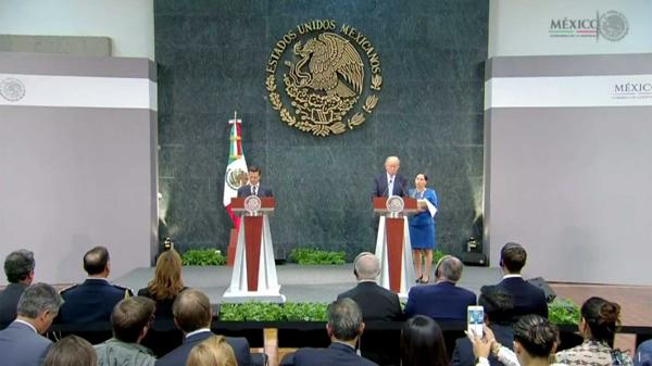 La reunión entre Peña Nieto y Donald Trump en la Ciudad de México