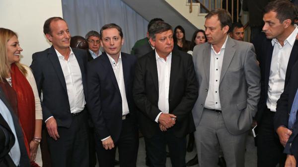 Insaurralde, Gray, Peppo y Cascallares en la reunión previa que se realizó en la Casa del Chaco