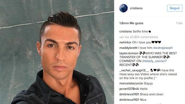 Cristiano Ronaldo publicó la foto en sus redes sociales