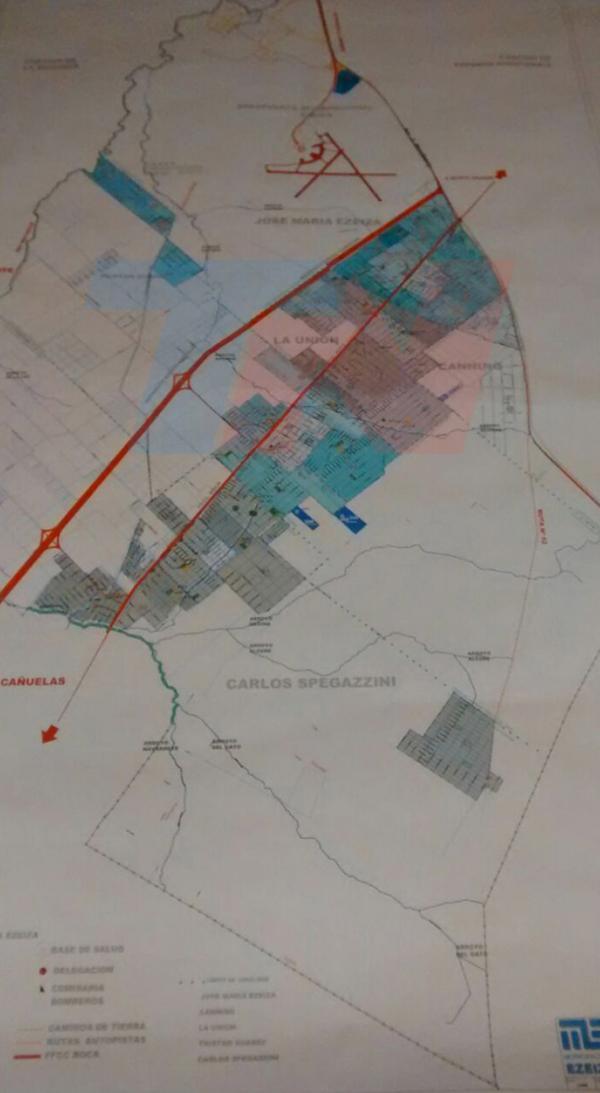 El mapa del partido de Ezeiza que tenía la abogada