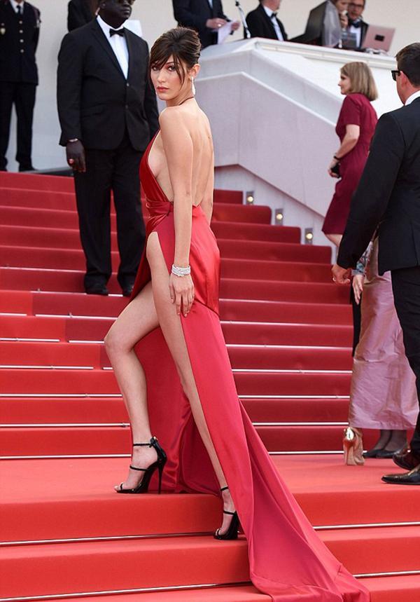 Bella Hadid, de 19 años, fue la gran protagonista del último Festival de Cannes (Shutterstock)