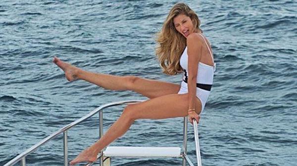 La top model internacional Gisele Bündchen se anima a lucir esta tendencia vintage
