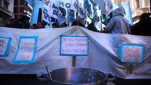 En esta oportunidad, la organización reclama la declaración de emergencia social (Adrián Escandar)