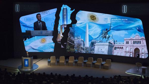 Mauricio Macri dijo en el Foro de Inversiones que tras la corrección tarifaria la inflación se ubicará en un rango de 1 a 1,5% por mes (Adrián Escandar)