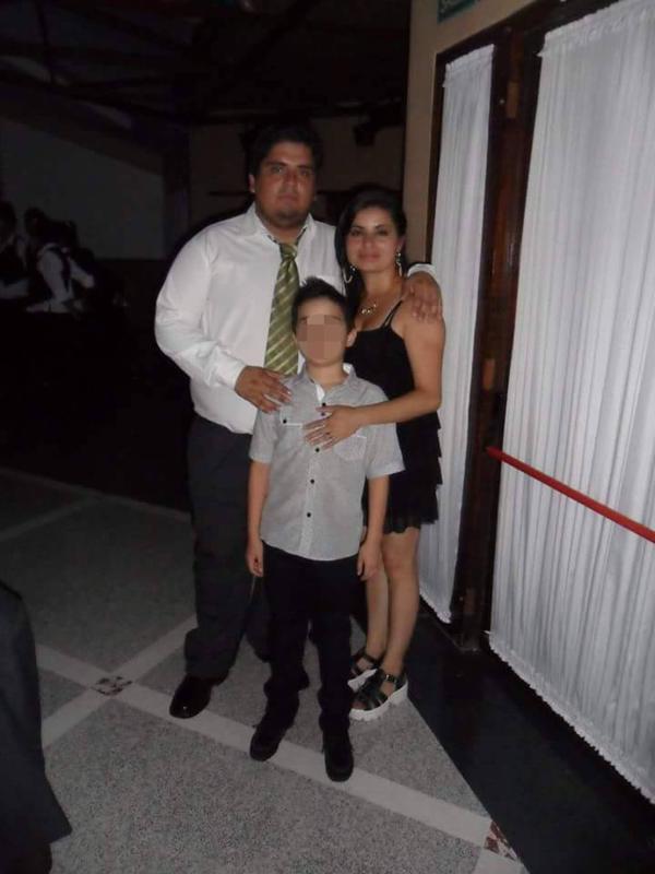 Diego, Daniela y su hijo