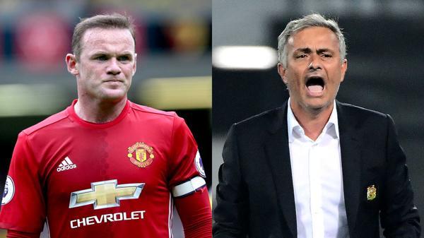 Wayne Rooney y José Mourinho