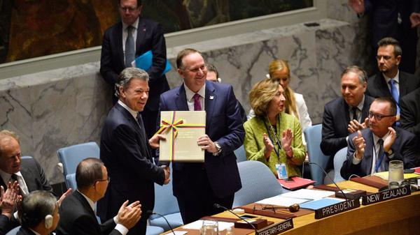 Santos entregó el acuerdo al Consejo de Seguridad de la ONU