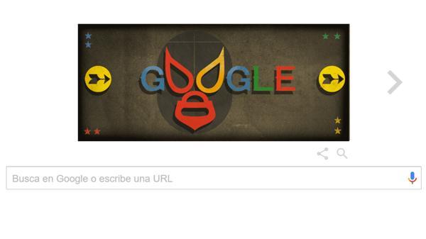 """El doodle de google para homenajear a """"El Santo"""""""