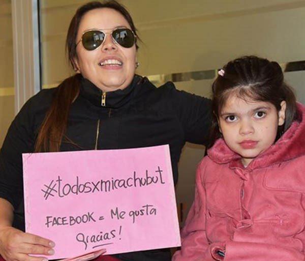Carola Vera, la madre di Micaela, ha spiegato la sua felicità per aver ricevuto la dose per il trattamento terapeutico