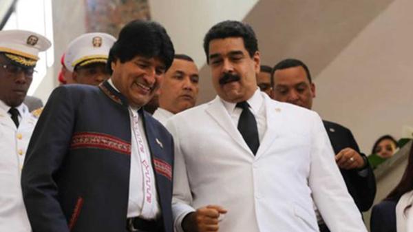 Evo Morales y Nicolás Maduro, fieles a su colega dominicano