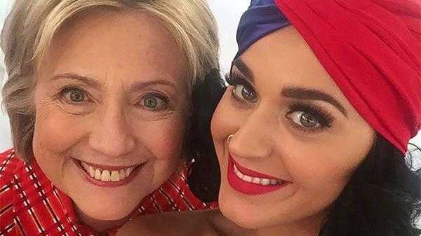 Katy Perry apoya a la demócrata Hillary Clinton