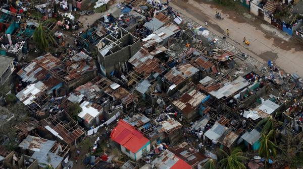 Los daños vistos desde una imagen panorámica (Reuters)
