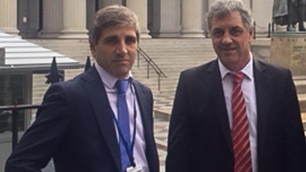 El secretario de Finanzas, Luis Caputo, y el de Hacienda, Gustavo Marconato, viajaron a Washington en busca de financiamiento del rojo fiscal