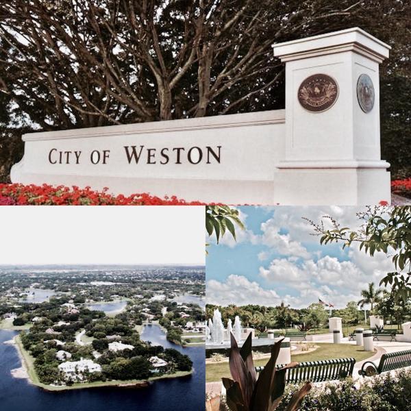 Weston sigue el modelo de suburbio norteamericano a la perfección, con extensas áreas parquizadas, lagos artificiales y aspiracionales comunidades cercadas