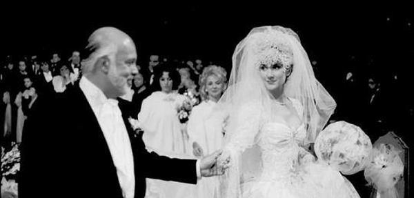 Celine Dion y René Angélil el día de su caasmiento, el 17 de diciembre de 1994.