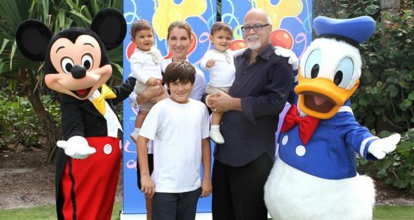 La familia Angélil-Dion a pleno en Disney. Era febrero de 2012