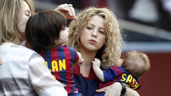 Shakira con sus hijos Milan y Sasha