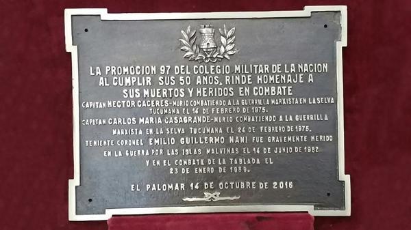 El homenaje se realizó en el Colegio Militar de la Nación