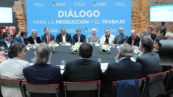 Esta semana se volverá a reunir la Mesa del Diálogo para la Producción y el Trabajo