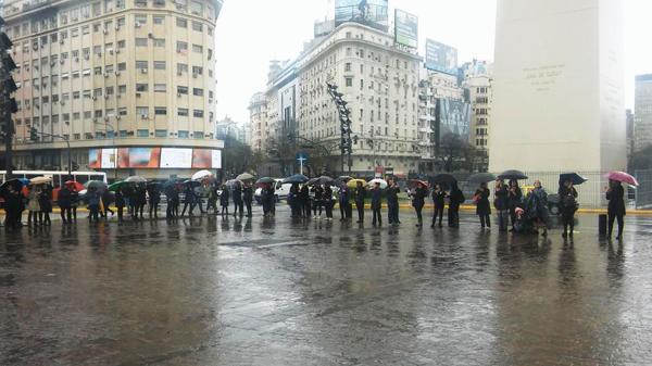 La marcha replicará en todo el país (@CardosoClaudio9)