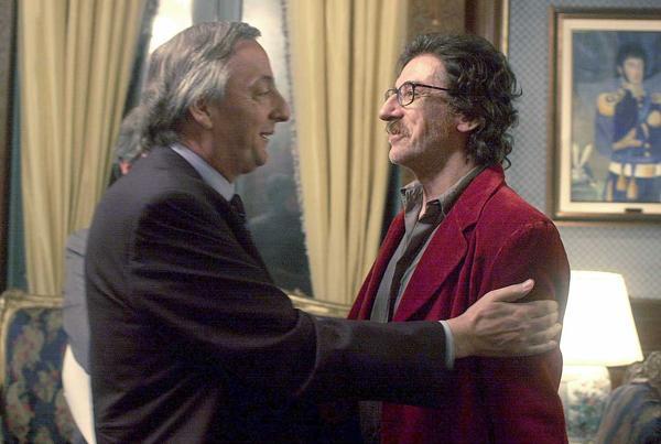 Charly con el ex presidente Néstor Kirchner