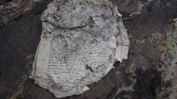 También se hallaron manuscritos entre los 500 elementos abandonados por los nazis en 1944